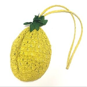 Pineapple straw raffia bag
